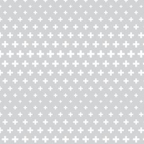 halftone crosses light grey reversed