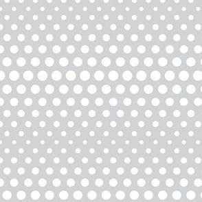 halftone dots light grey reversed