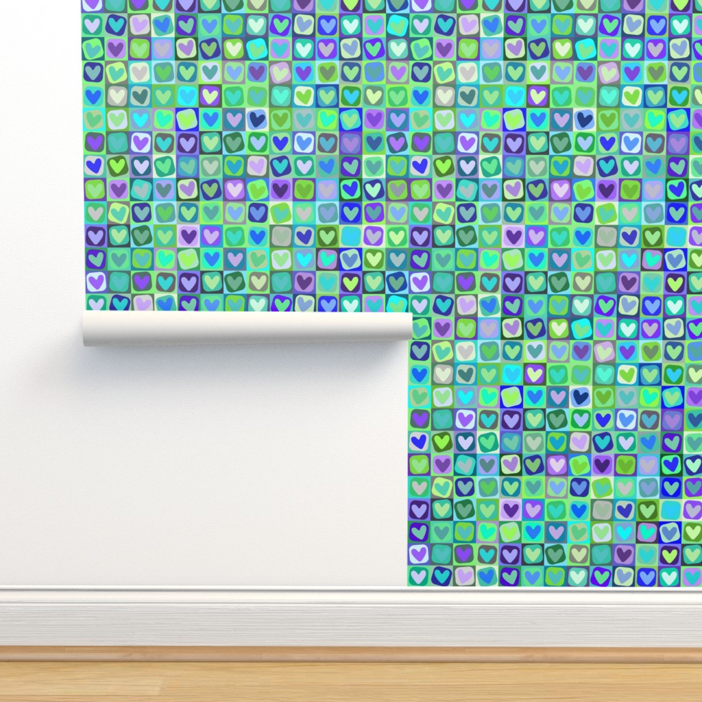 Isobar Durable Wallpaper featuring Happy Hearts by bodabe