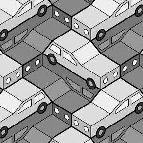 06125043 : car 2g 2 : traffic-jam zig-zag