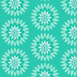 mint teal dahlia pop