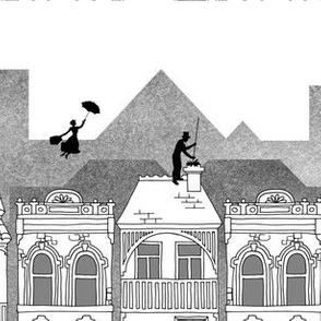Mary Poppins (black and white)