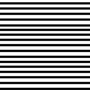 Striped Fabric Black and White