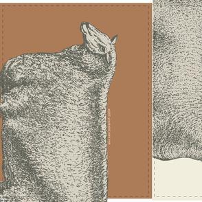 Sheep Thrills Cut 'n' Sew--Toffee