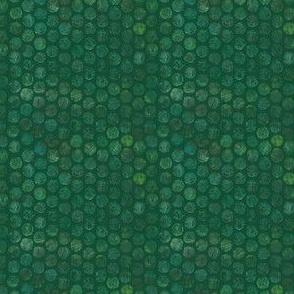 Armadillo Dots Green