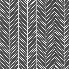 herringbone feathers dark grey