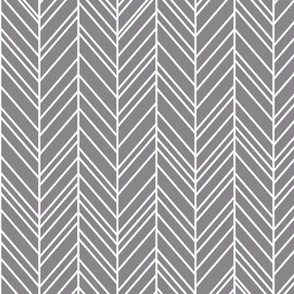 herringbone feathers granite grey