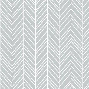 herringbone feathers sterling grey