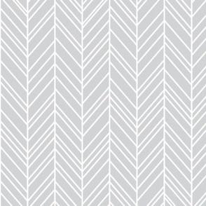 herringbone feathers light grey