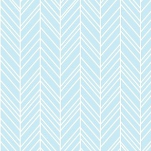 herringbone feathers ice blue
