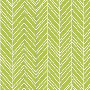 herringbone feathers lime green