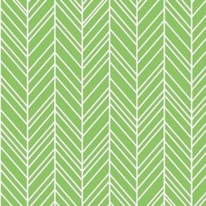 herringbone feathers apple green