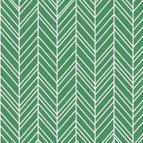 herringbone feathers kelly green