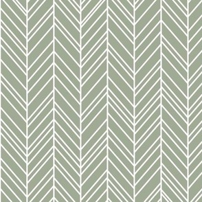 herringbone feathers sage green