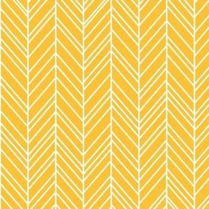 herringbone feathers golden honey