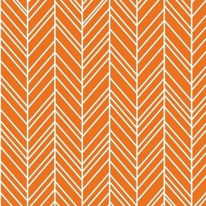 herringbone feathers orange
