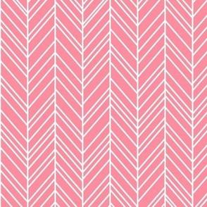 herringbone feathers pretty pink