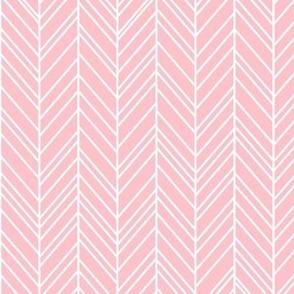 herringbone feathers light pink