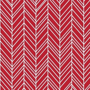herringbone feathers red