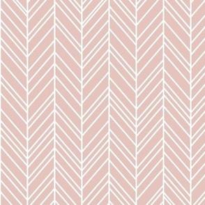 herringbone feathers dusty pink