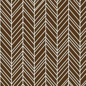 herringbone feathers brown