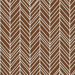 herringbone feathers chocolate brown