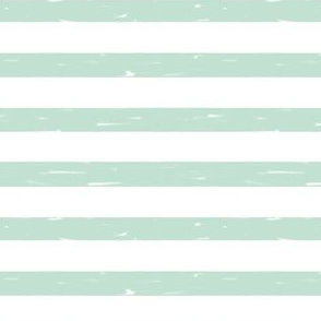 sailor stripes // mint stripe fabric hand-drawn summer nautical summer print