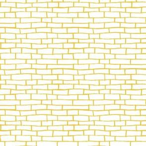 Brick Road - White and Yellow