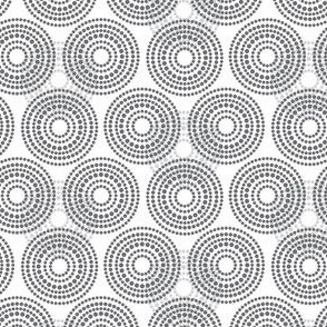 15-06B Geometric Gray Grey Circle Dots Spots Modern Cloud Sky Low Volume _ Miss Chiff designs