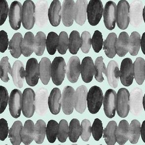 17-13Q Watercolor Large Spots Dots Drops    Black White Gray Grey Mint Green _Miss Chiff Designs
