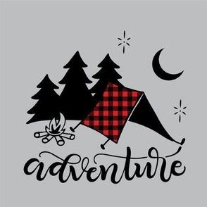 """8"""" Quilt block - Camping adventure"""
