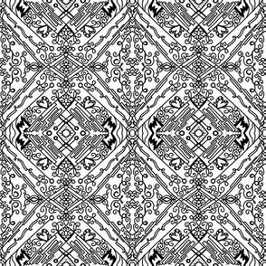 Project 259 | Bohemian Filigree | Black and White