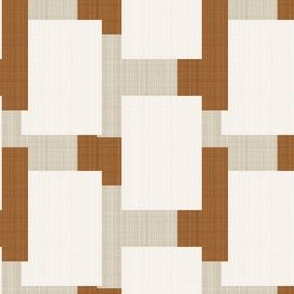 Mid Century Modern Blocks || Squares in Tan Cream Brown Neutral 50s 60s 70s _Miss Chiff Designs
