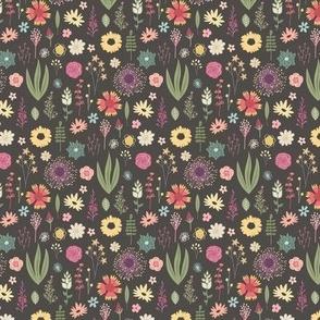 Flora & Fauna - Calico - Small Pattern