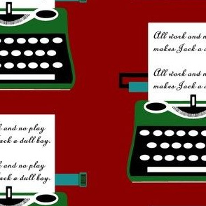 Typewriter All work And No Play red sewindigo