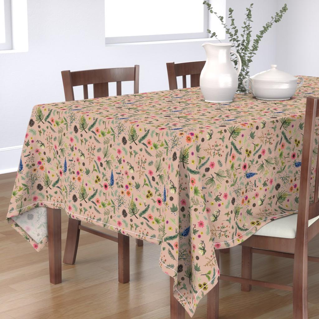 Bantam Rectangular Tablecloth featuring sierra print - putty revised by cinneworthington