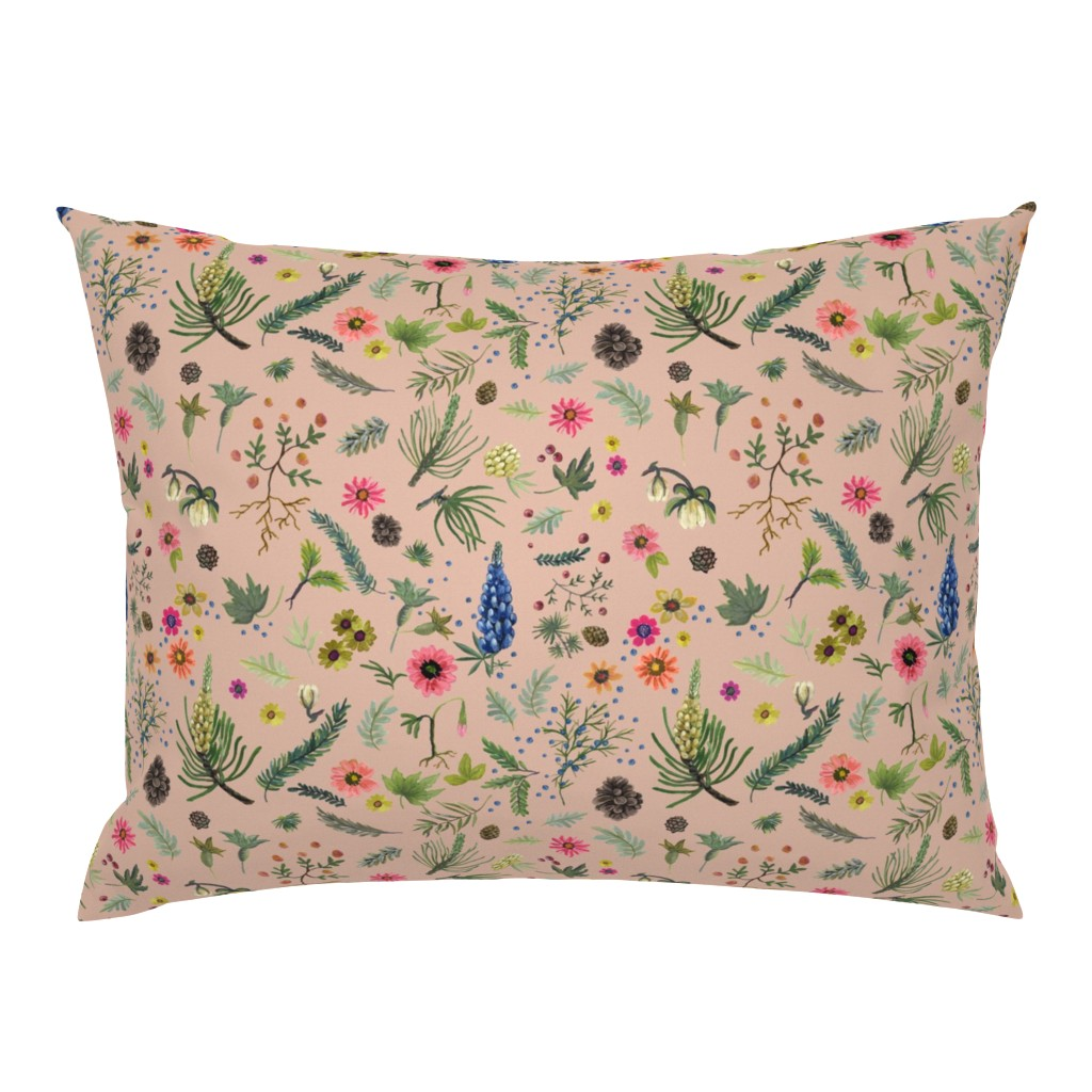 Campine Pillow Sham featuring sierra print - putty revised by cinneworthington