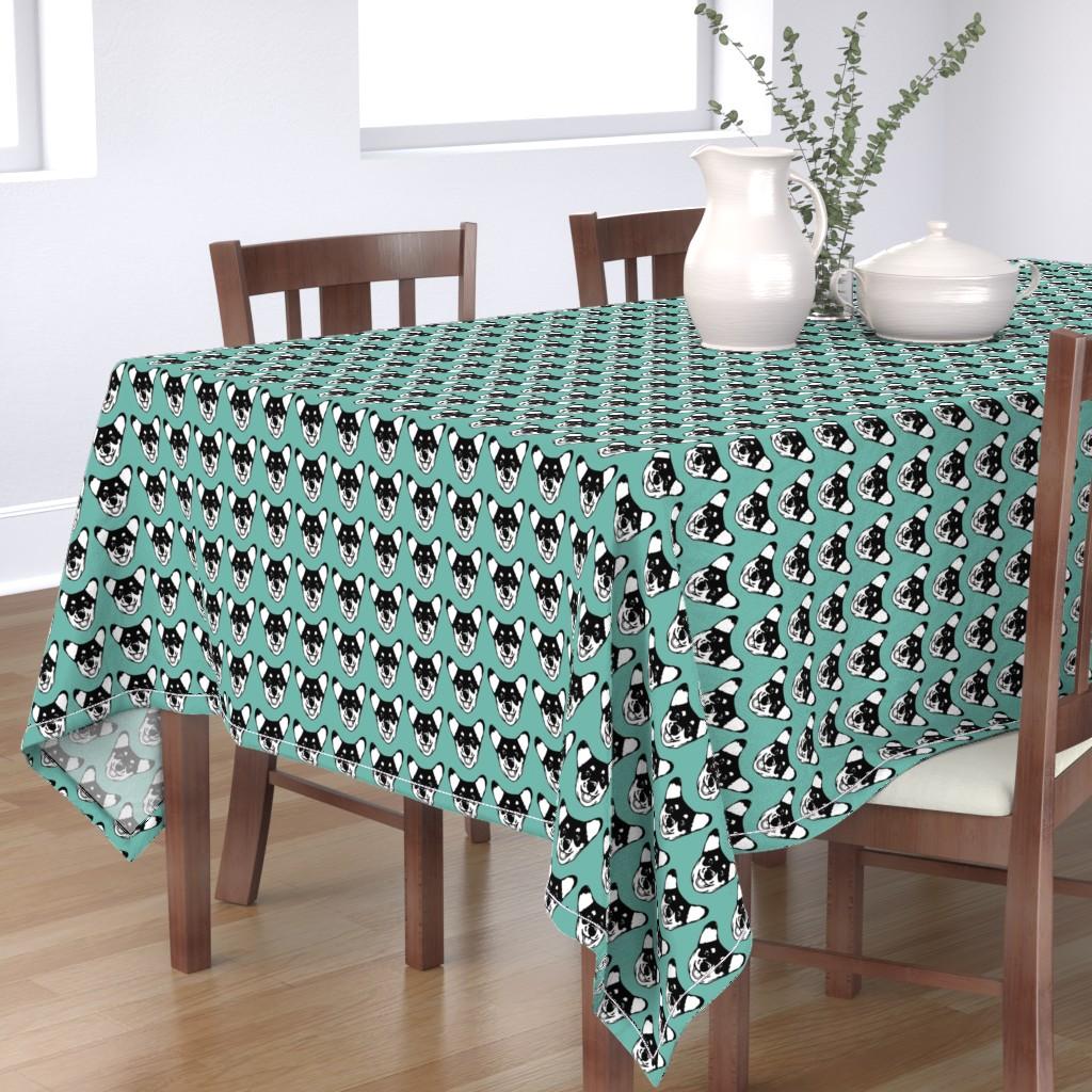 Bantam Rectangular Tablecloth featuring Corgi - tastic fella' by cheekyhodgepodge