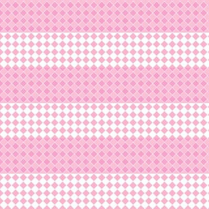 Diamonds and Stripes in pink