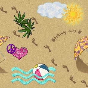 420 Day At The Beach
