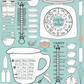 Retro Kitchen Charts
