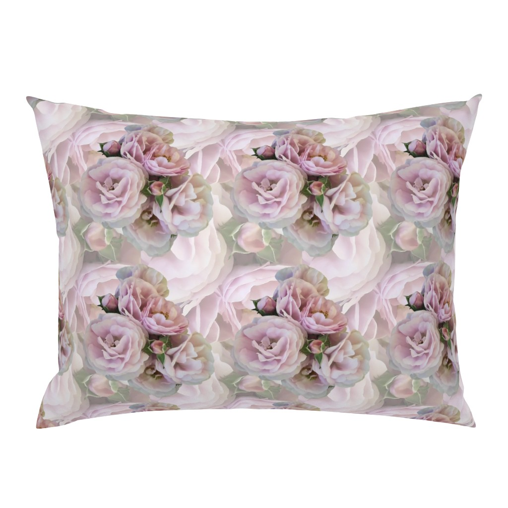 Campine Pillow Sham featuring Misty_Pink_Roses by artonfabric