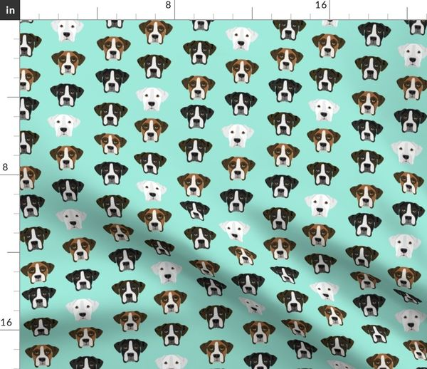 Boxer Dog Fabric Boxer Dogs Fabric Boxer