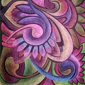 Abstract Swirlique napkin