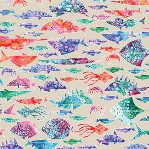 Geometric Watercolor Fish