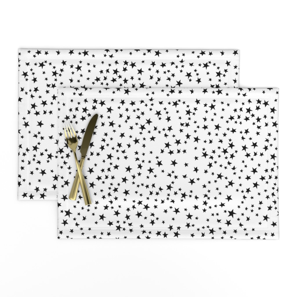 Lamona Cloth Placemats featuring Let It Be Stars by robyriker