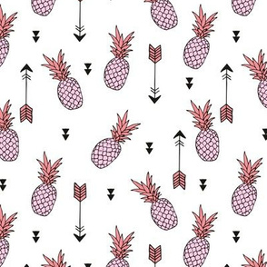 Tropical indian summer pineapple fruit geometric arrows soft pastel pink lilac