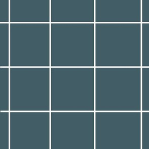 grid - dusty blue squares