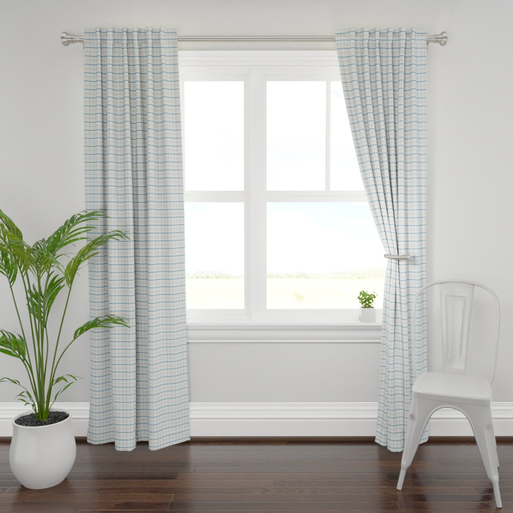 Plymouth Curtain Panel featuring Simple Subtle Tartan by angel_nicole