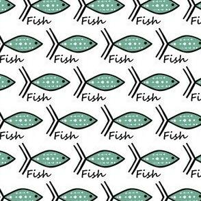 One Fish Teal Fish sewindigo